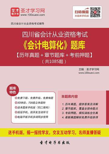 四川省会计从业资格考试《会计电算化》题库【历年真题+章节题库+考前押题】