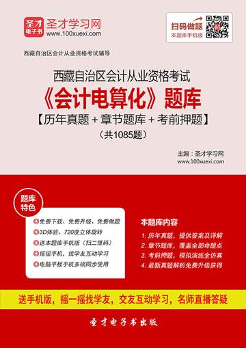 西藏自治区会计从业资格考试《会计电算化》题库【历年真题+章节题库+考前押题】