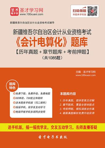 新疆维吾尔自治区会计从业资格考试《会计电算化》题库【历年真题+章节题库+考前押题】