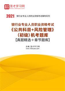 2020年下半年银行业专业人员职业资格考试《公共科目+个人贷款》(初级)题库【历年真题+章节题库】