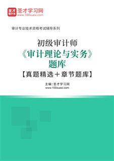 2020年初级审计师《审计理论与实务》题库【真题精选+章节题库】