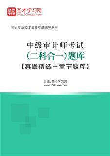 2020年中级审计师考试(二科合一)题库【真题精选+章节题库】