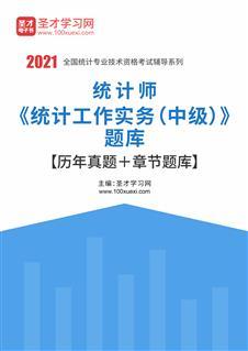 2021年统计师《统计工作实务(中级)》题库【历年真题+章节题库】